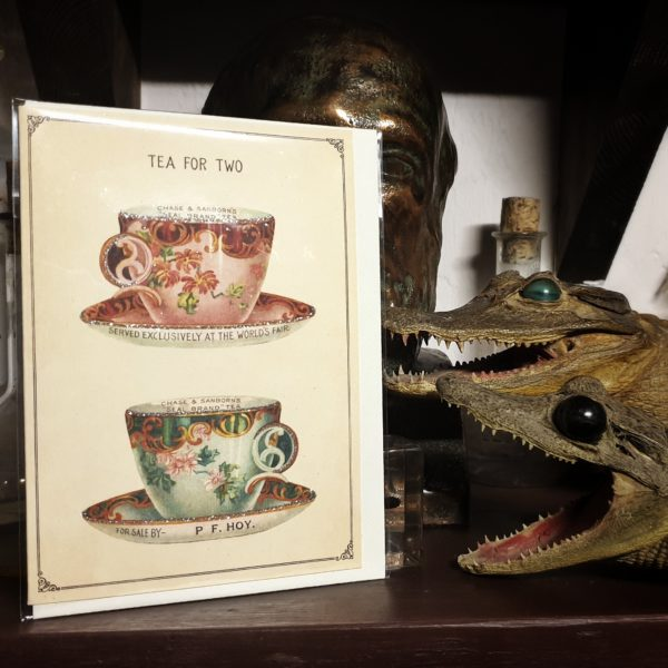 Tea for Tow Greeting Card still life with alligators