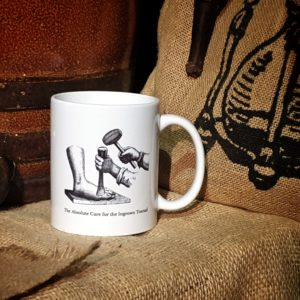 Mug with image with the absolute cure of the ingrown toenail