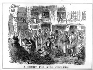 a court for king cholera from the wellcome collection