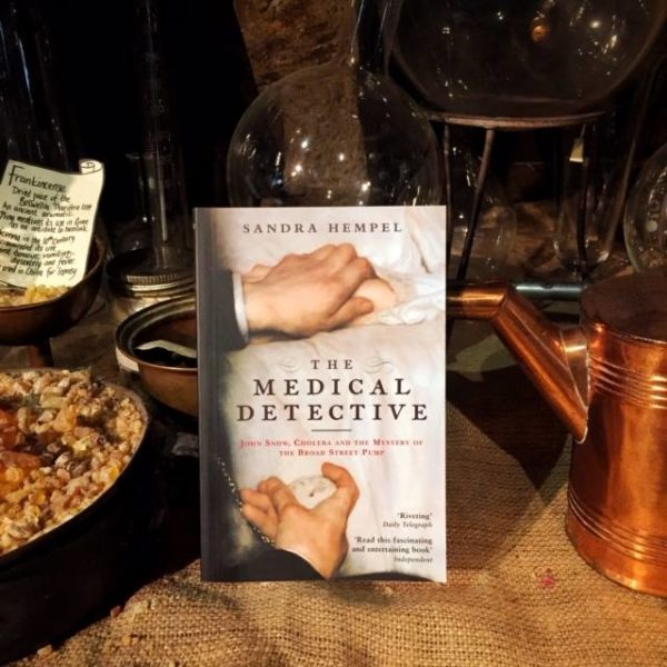 Still life with the book by Sandra Hempel, the Medical Detective