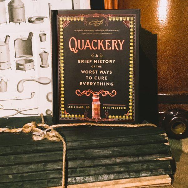 Still life of Quackery book