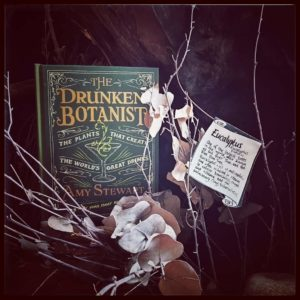 Still life of Drunken Botanist book
